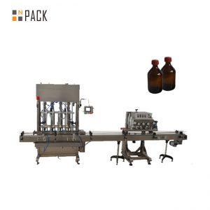 स्वचालित स्पिन्डल क्यापर पीईटी प्लास्टिक बोतल ढक्कन क्यापिंग मेशिन