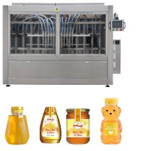 स्वचालित सर्वो पिस्टन प्रकार सॉस हनी जाम उच्च विस्कोसिटी लिक्विड फिलिंग क्यापिंग लेबलिंग मेशिन लाइन
